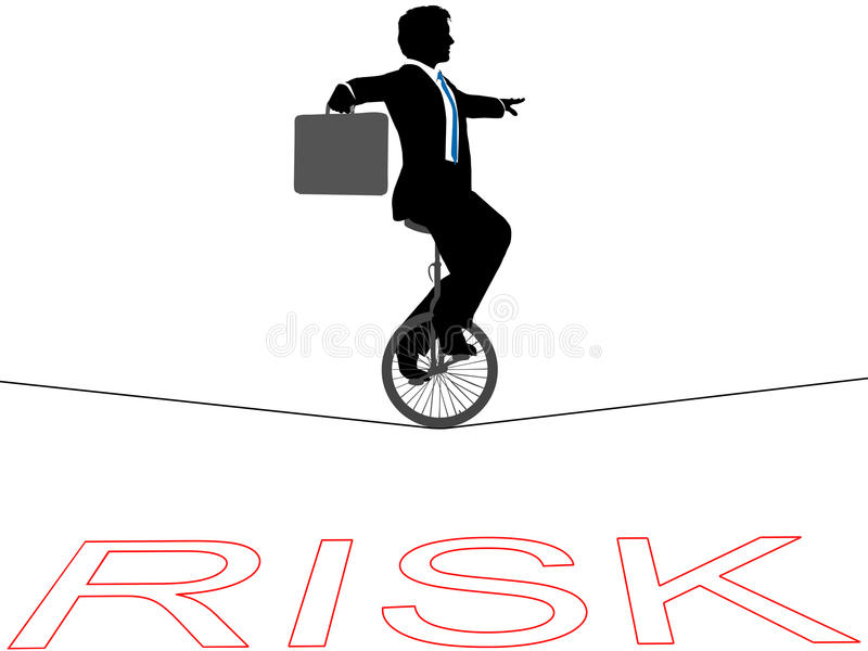Download Business Man Unicycle Tightrope Financial Risk Stock Vector - Image: 19785620