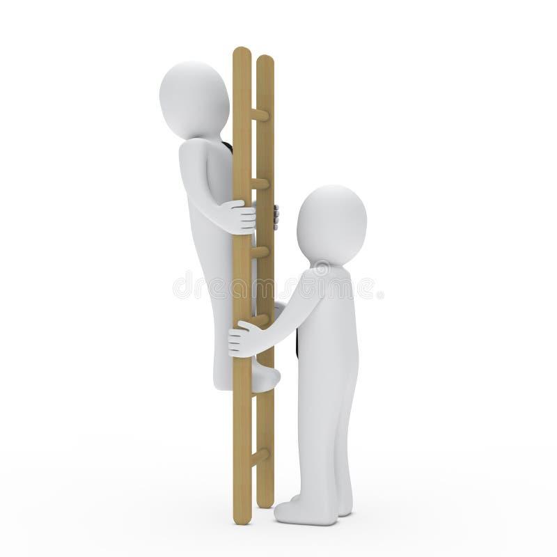 Download Business Man Up Ladder For Success Stock Illustration - Illustration: 22050185
