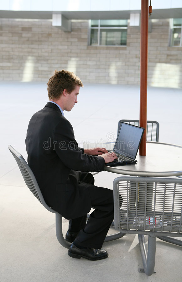 Business Man Using Laptop royalty free stock images
