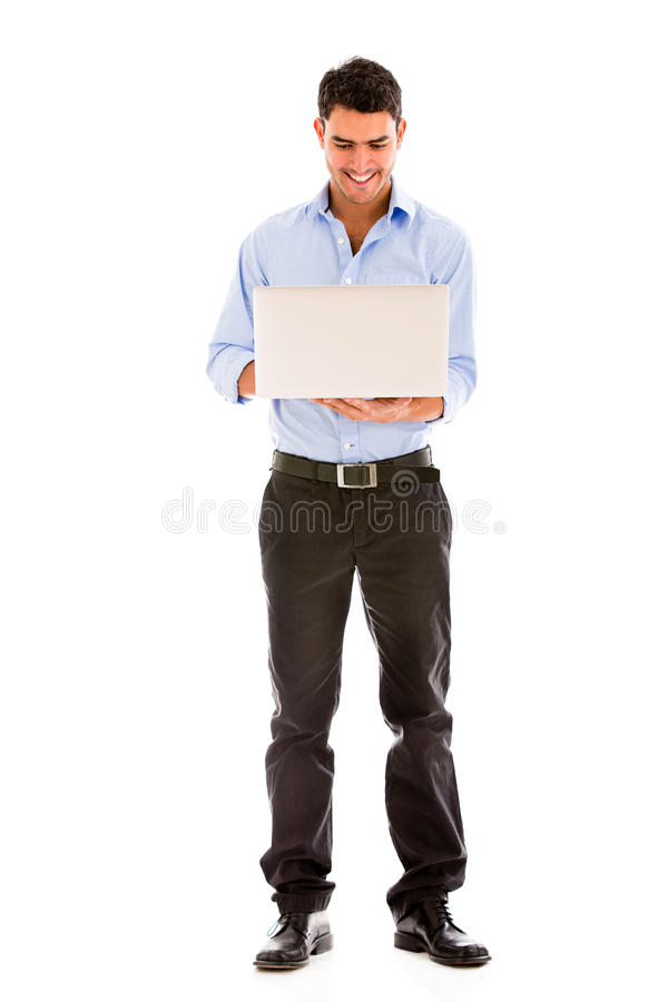 Download Business Man Using A Laptop Stock Image - Image: 30175855