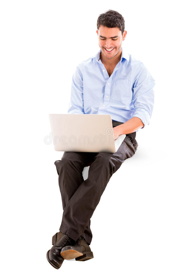 Download Business Man Using A Laptop Stock Image - Image of entrepreneur, person: 30229493