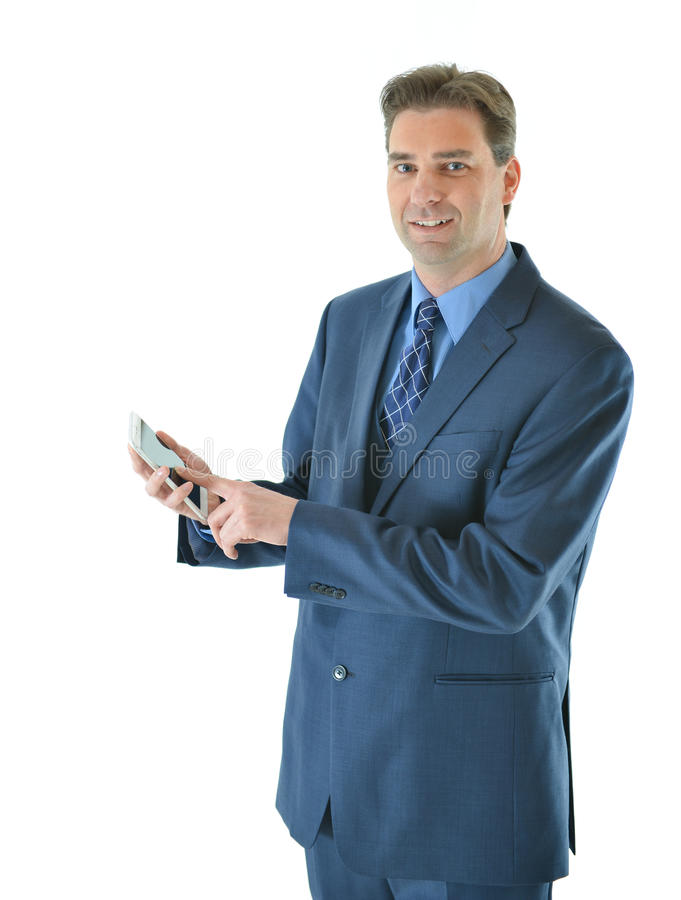 Download Business Man Using Smart Phone Stock Photo - Image: 83717855