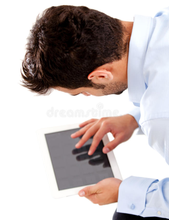Download Business Man Using Tablet Computer Stock Image - Image: 26081639