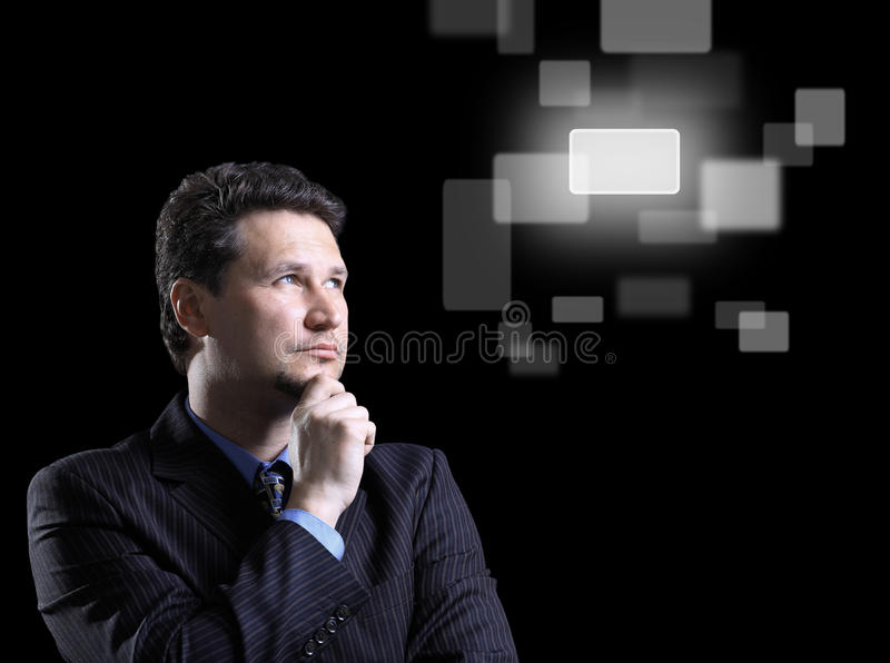 Download Business Man And Virtual Stock Photography - Image: 19653322