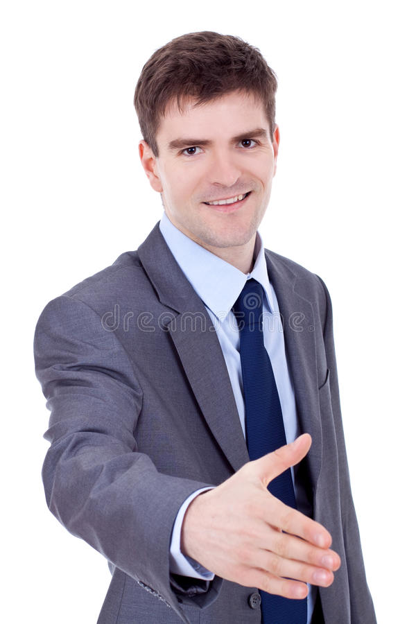 Download Business Man Waiting For Handshake Stock Image - Image of friendly, joyful: 18593131
