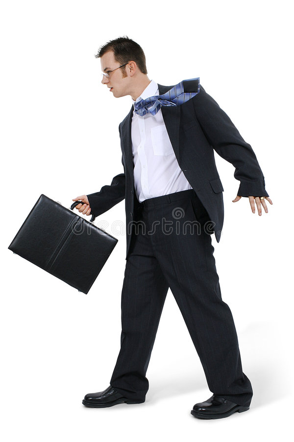 Business Man Walking With Briefcase royalty free stock photo