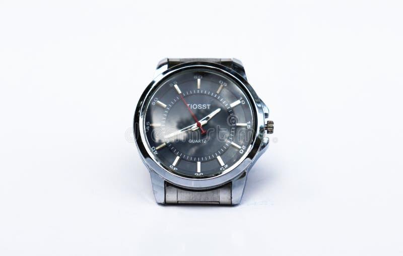 Business man watch in white background. Men`s stylish watches. Men`s stylish watches. Business man watch in white background stock photography