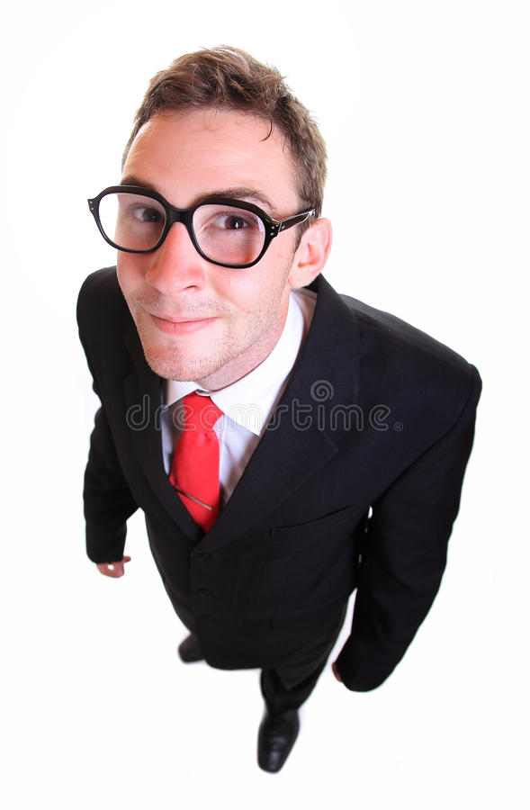 Business man wearing retro eyeglasses royalty free stock photos