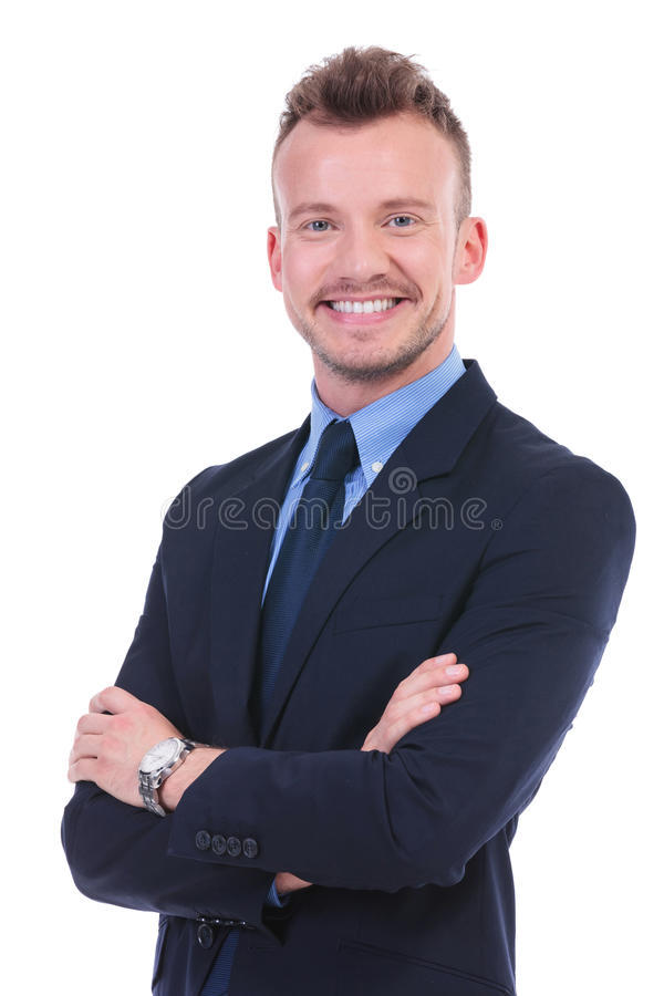 Free Business Man With Folded Arms Royalty Free Stock Image - 31846166