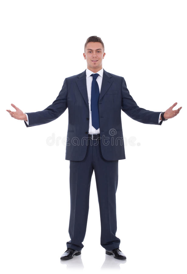 Free Business Man With Open Arms Stock Photos - 19348013
