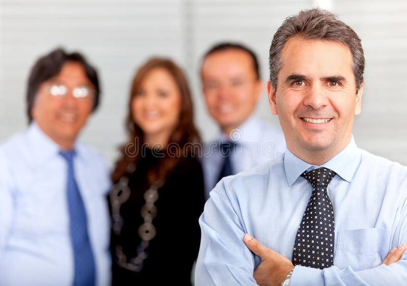 Download Business man witha group stock image. Image of group - 21962567