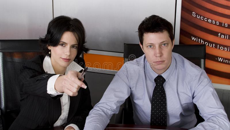 Business man and woman royalty free stock photo
