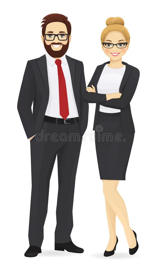 Business man and woman royalty free illustration