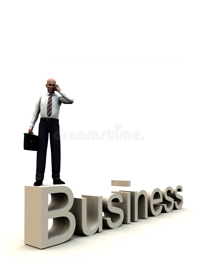 Download Business Man On Word 3 stock illustration. Illustration of clothing - 5114989