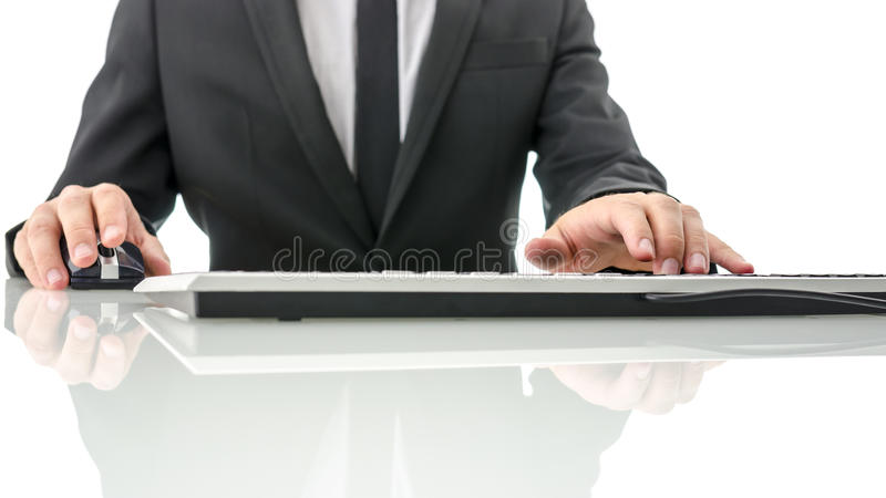 Download Business Man Working On Computer Stock Photo - Image: 33174658