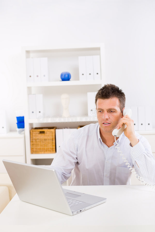 Download Business Man Working At Home Stock Image - Image: 7142823