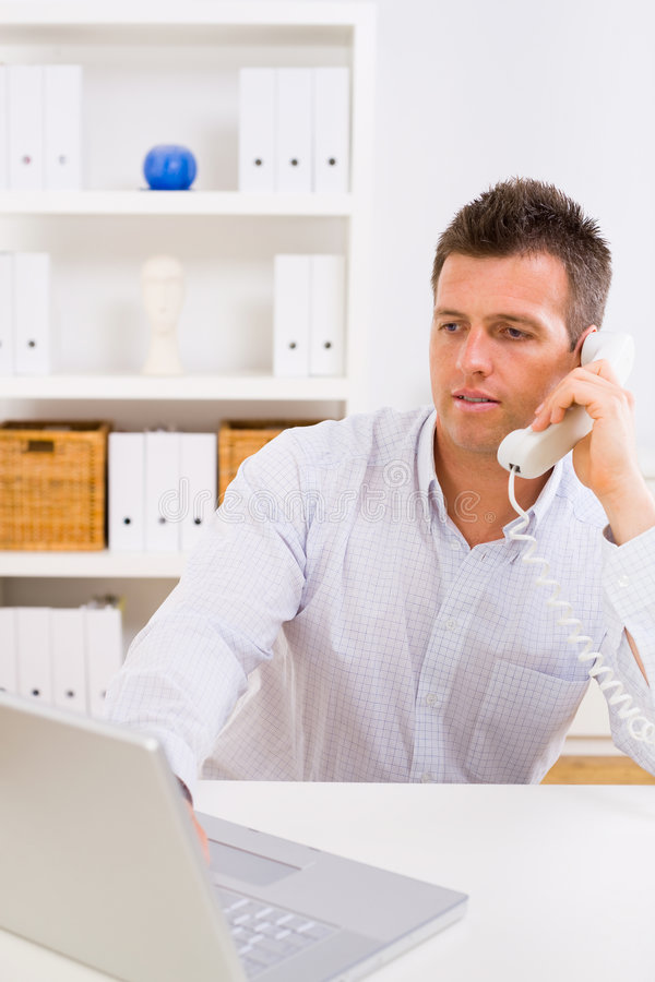Download Business Man Working At Home Stock Photo - Image of homework, chatting: 7726610