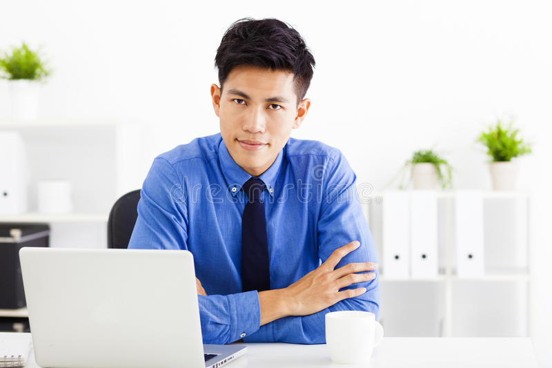 Business man working in the office royalty free stock photo