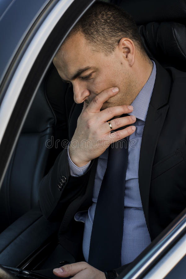 Download Business man worried stock image. Image of chauffeur - 39505935