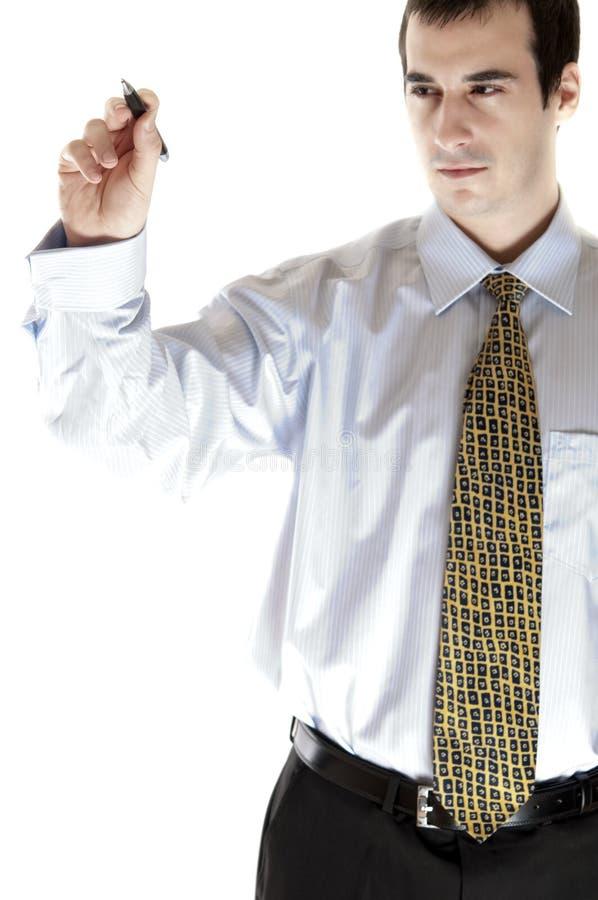 Download Business man writing stock image. Image of dark, white - 18657445