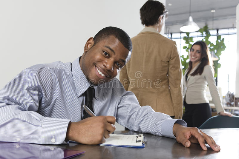 Business Man Writing Stock Photos