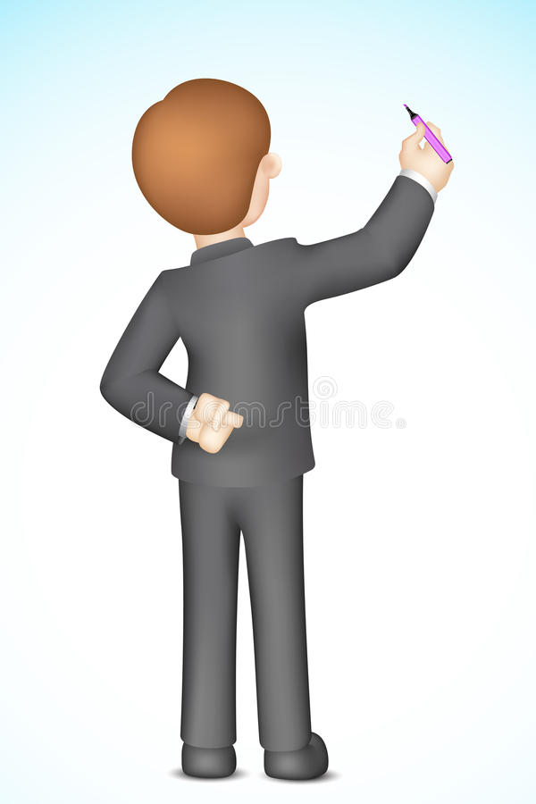 Business Man Writing On Blank Stock Photography