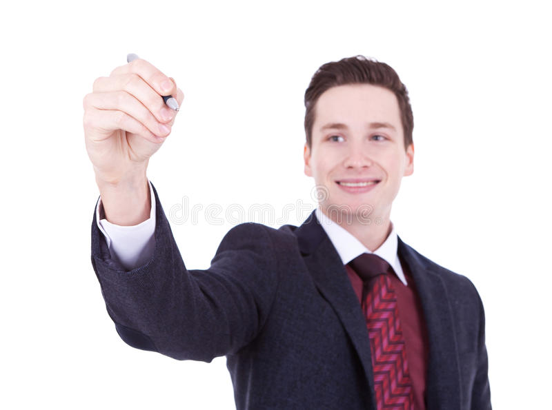 Download Business Man Writing With Marker Stock Photo - Image: 22732504