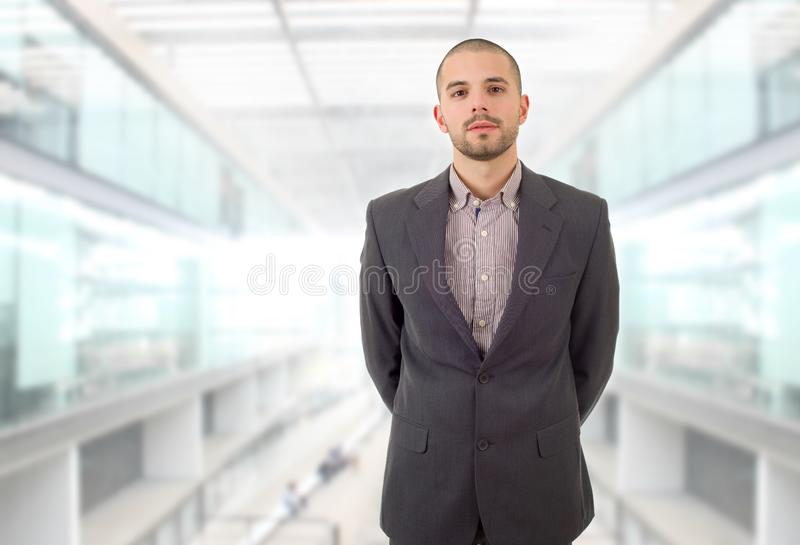 Business man. Young business man portrait at the office stock photo