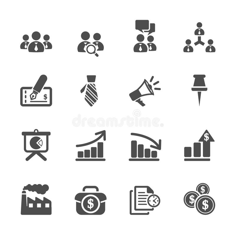 Business and management icon set 9, vector eps10 royalty free illustration