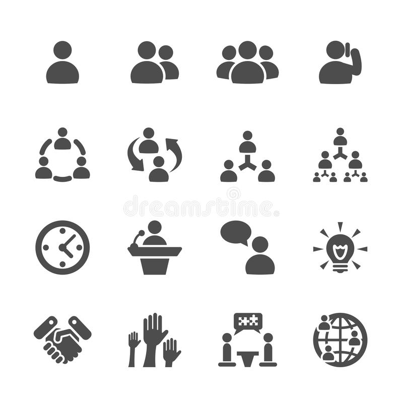 Business and management icon set 7, vector eps10 vector illustration