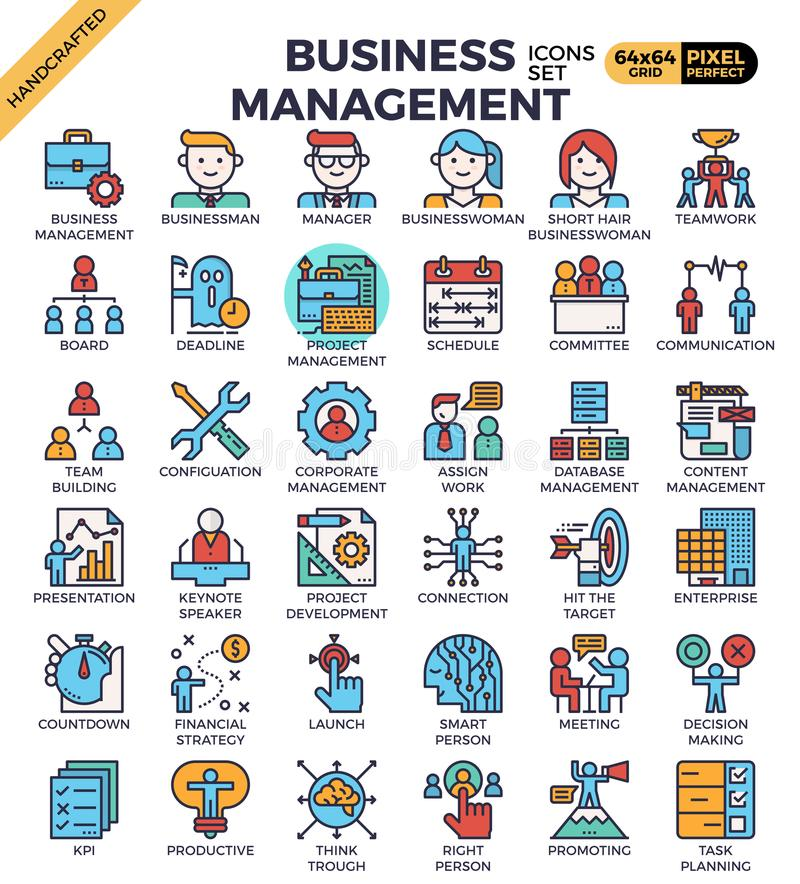 Business management icons vector illustration