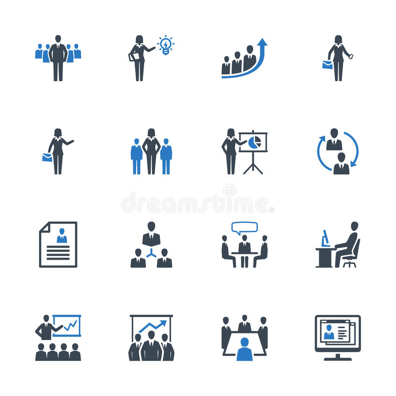 Business Management Icons Set 1 - Blue Series. This set contains business management icons that can be used for designing and developing websites, as well as stock illustration