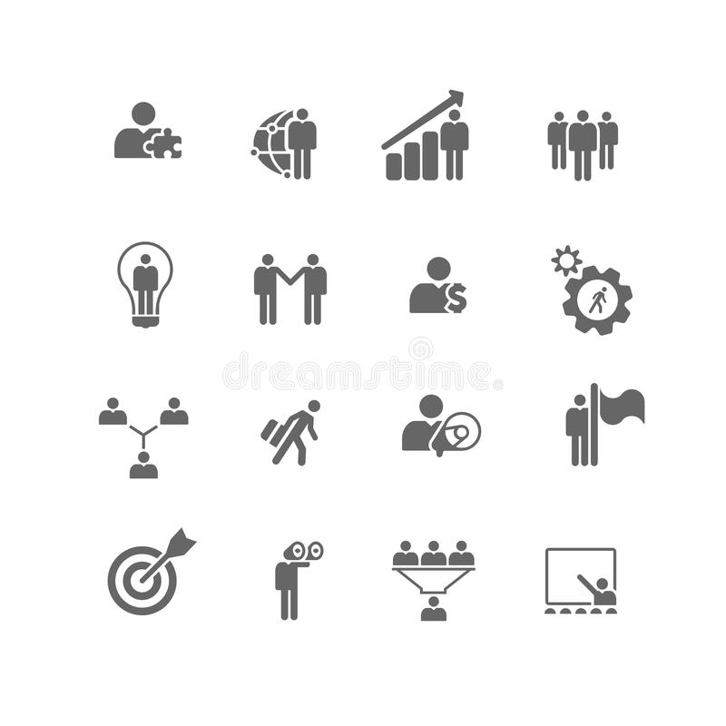 Business Management Metaphor Icons Stock Photo