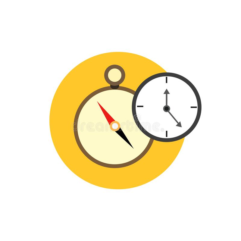 Business management vector icon clock stock illustration