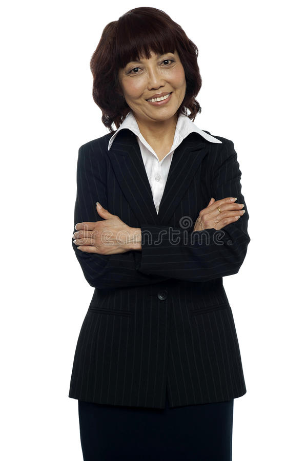 Download Business Manager Posing With Her Arms Crossed Stock Photo - Image: 26509888