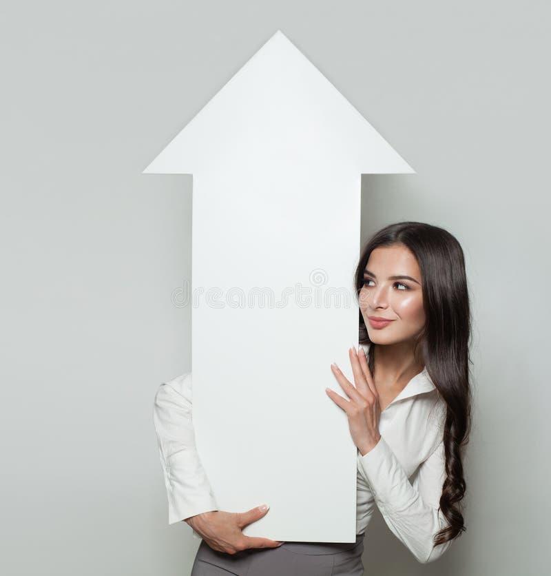 Business Manager z biznesowym narastającym up zysku diagramem zdjęcia royalty free
