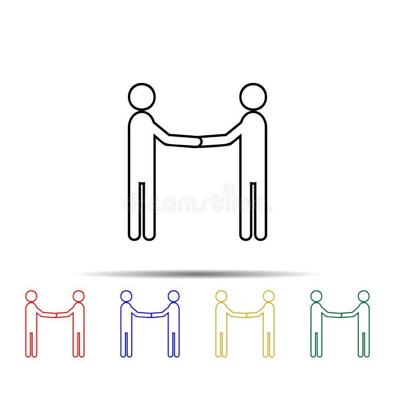 Business Manner Grüße mehrfarbiges Symbol Einfache dünne Linie, Konturvektor Vektor für Teamarbeit Icons für ui und ux, Website o lizenzfreie abbildung