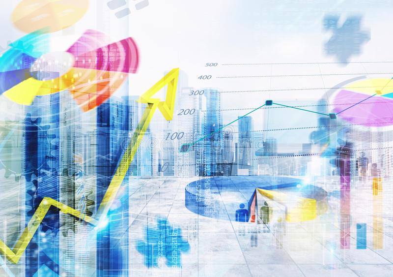 Business market analysis background royalty free illustration