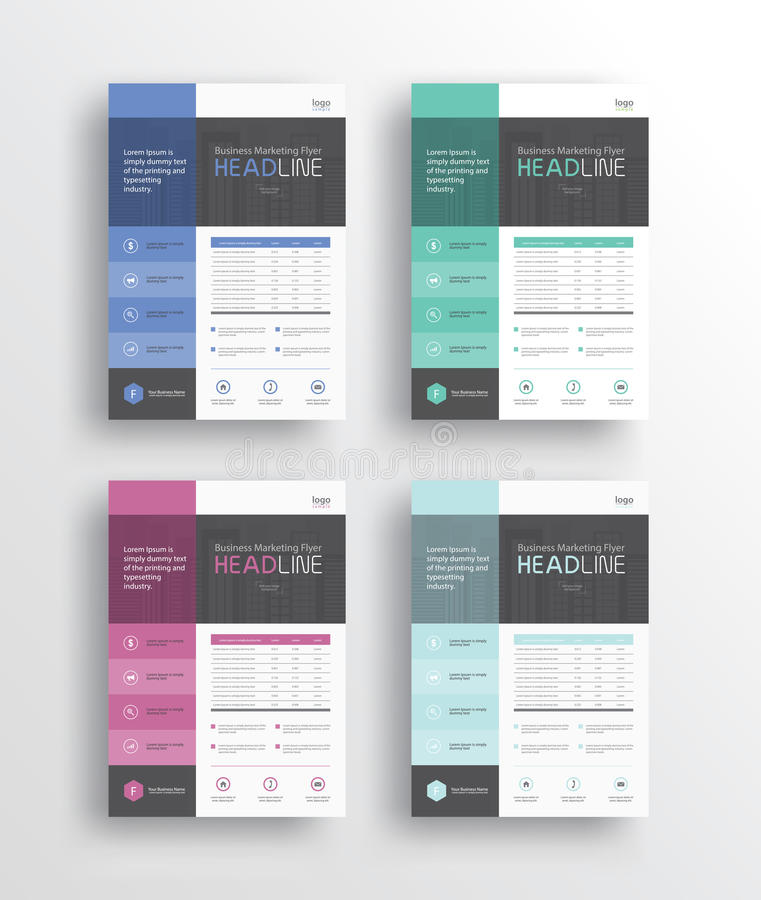 Business marketing flyer /brochure/poster/ and report design template stock illustration