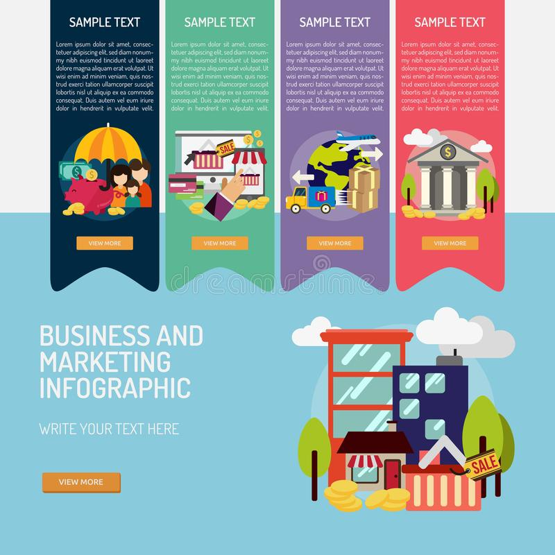 Business and Marketing Infographic Complex stock illustration