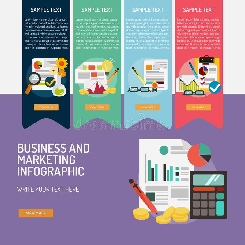 Business and Marketing Infographic Complex royalty free illustration