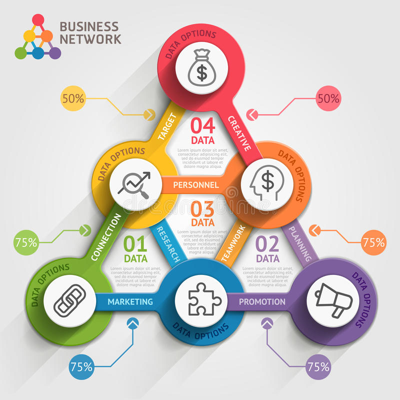 Business marketing infographic template. royalty free illustration