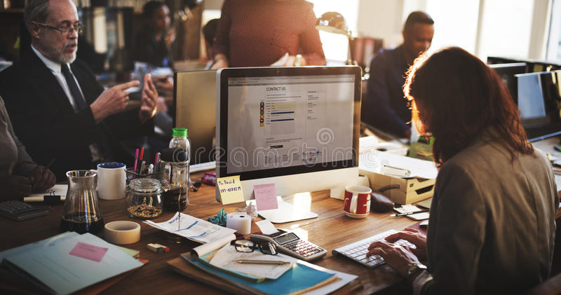 Business Marketing Team Discussion Planning Concept stock image