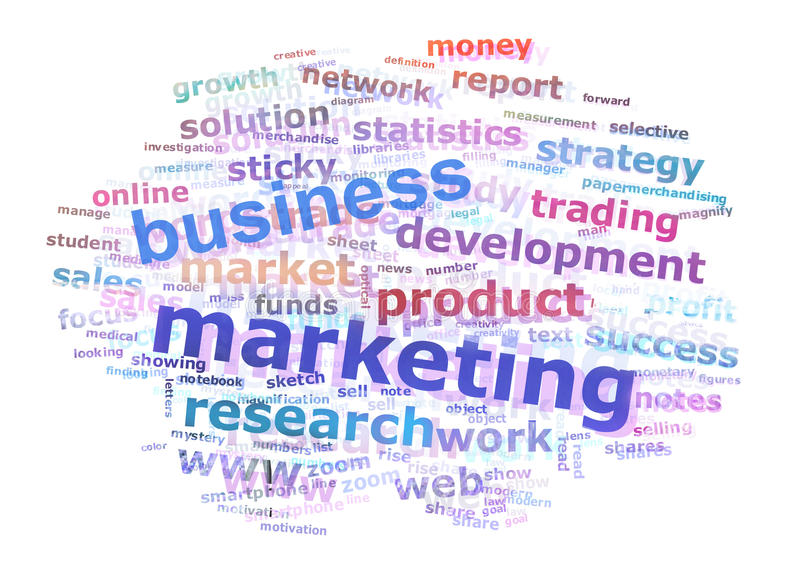 Download Business Marketing Word Cloud Stock Illustration - Image: 24097719
