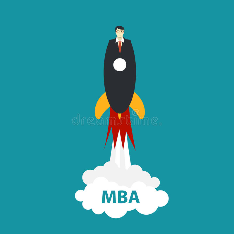 Business MBA Education Concept. Trends and innovation in educati stock illustration