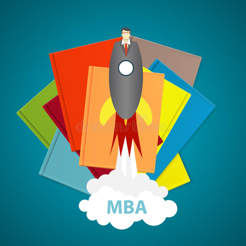 Business MBA Education Concept. Trends and innovation in educati royalty free illustration