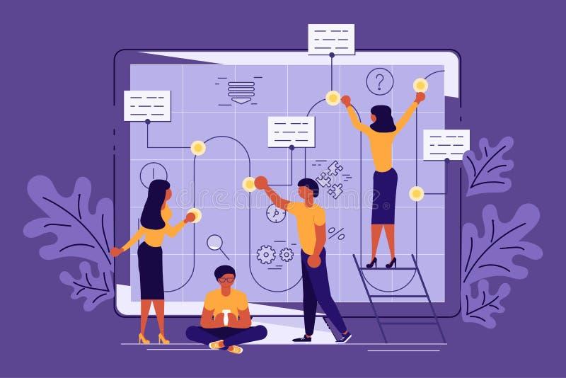 Planning development of ideas concept royalty free illustration
