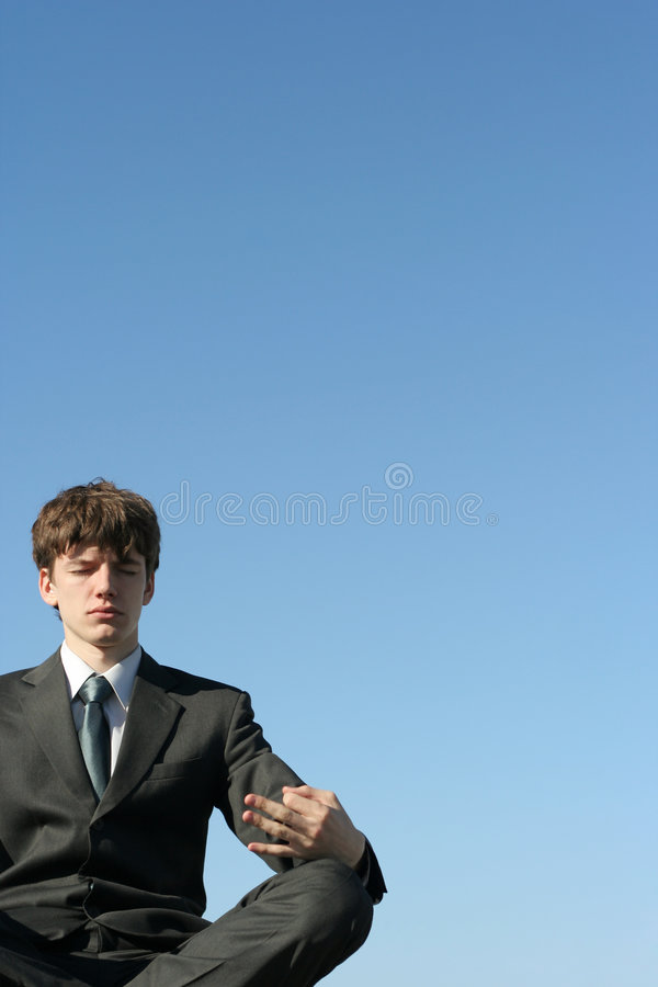Download Business meditation stock photo. Image of male, concentration - 2275460