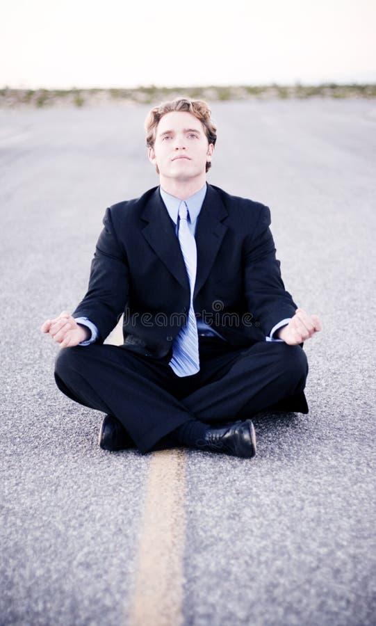 Business Meditation royalty free stock image