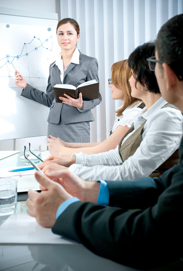 Business meeting. Business people at the business meeting royalty free stock image